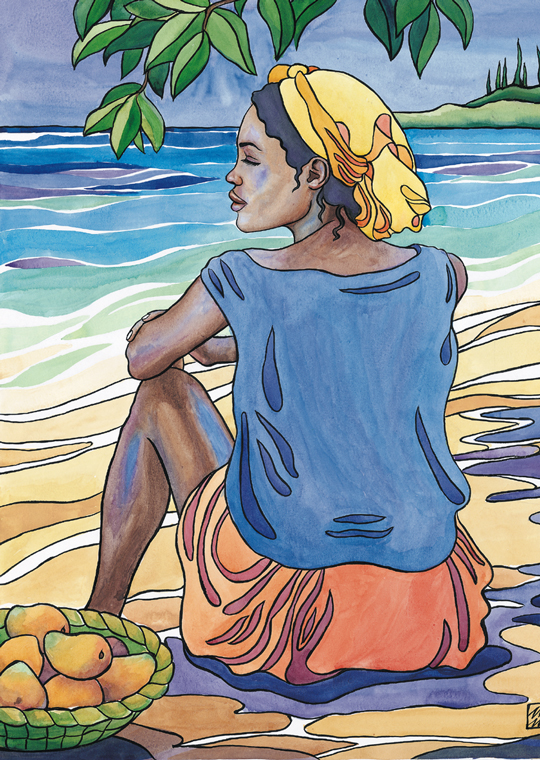 Woman with Mangoes